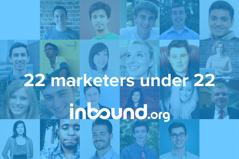 Top under 22 Inbound marketers